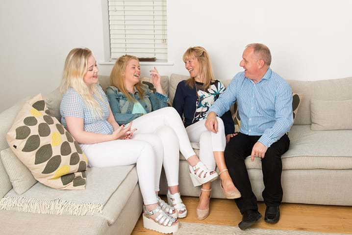 The Barker/Coots Family laughing