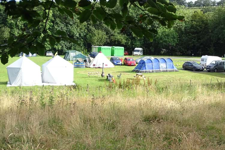 Tents and Caravans at Aeron View Campsite