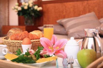 Bed breakfast egg flower romantic motel