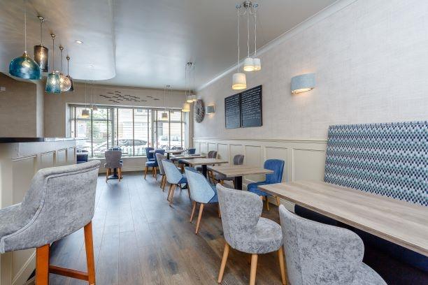 contemporary restaurant café with - 5