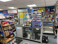 convenience store with post - 1
