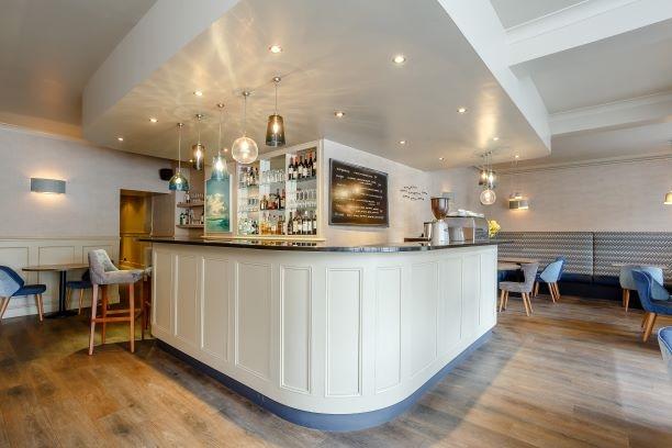 contemporary restaurant café with - 4