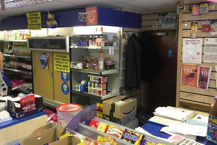 licenced convenience newsagent + - 4