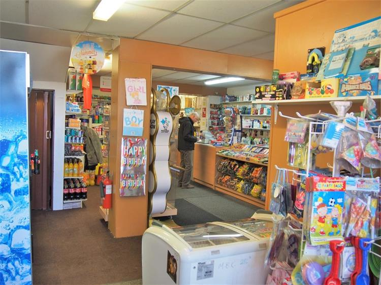 convenience store with post - 5